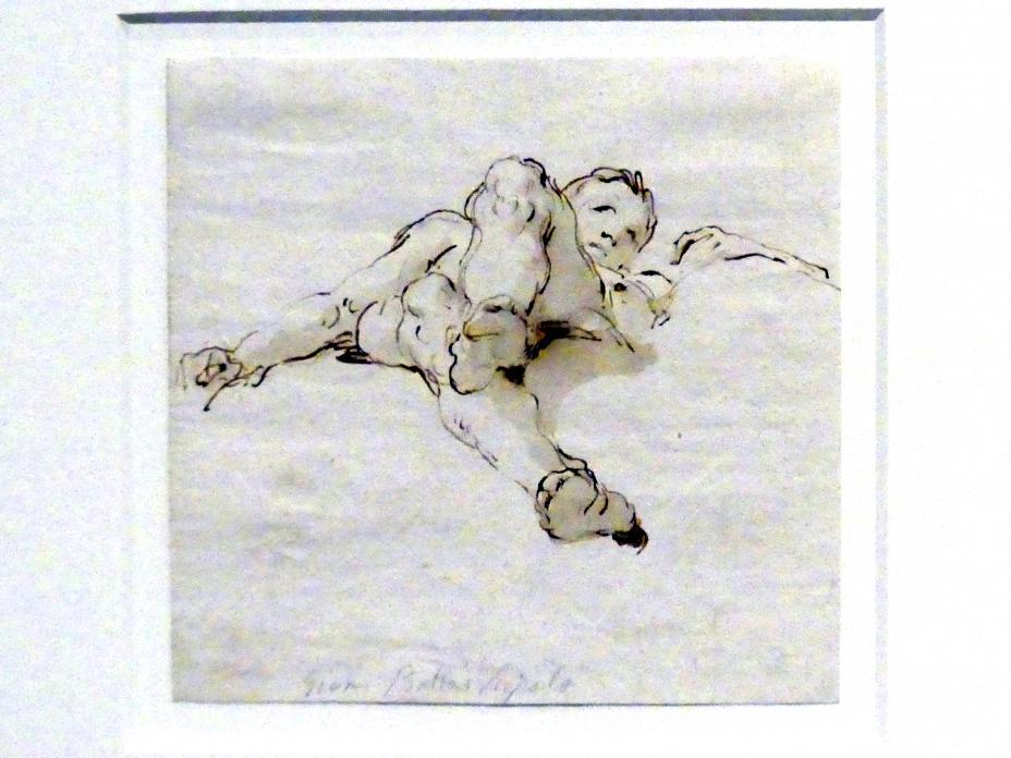 Giovanni Battista Tiepolo: Liegender Knabe von unten gesehen, um 1754 - 1762