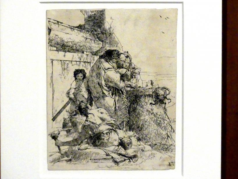 Giovanni Battista Tiepolo: Drei Magier verbrennen eine Schlange, um 1743 - 1757
