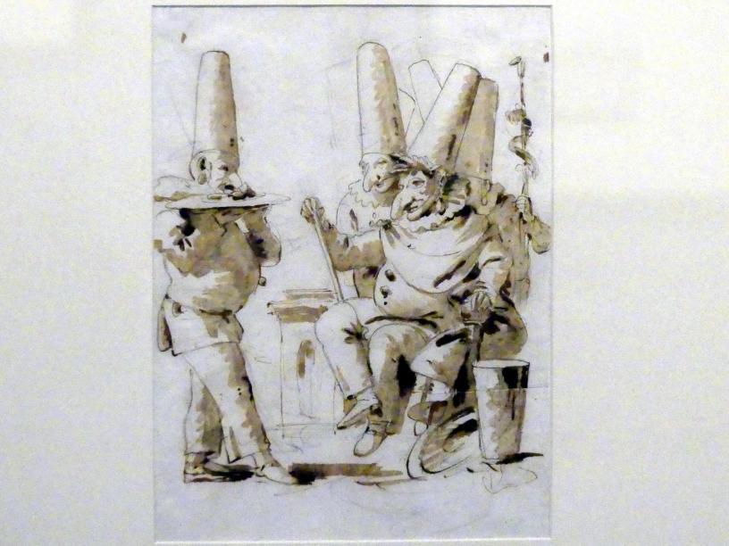 Giovanni Battista Tiepolo: Verehrung des thronenden Pulcinella, Undatiert