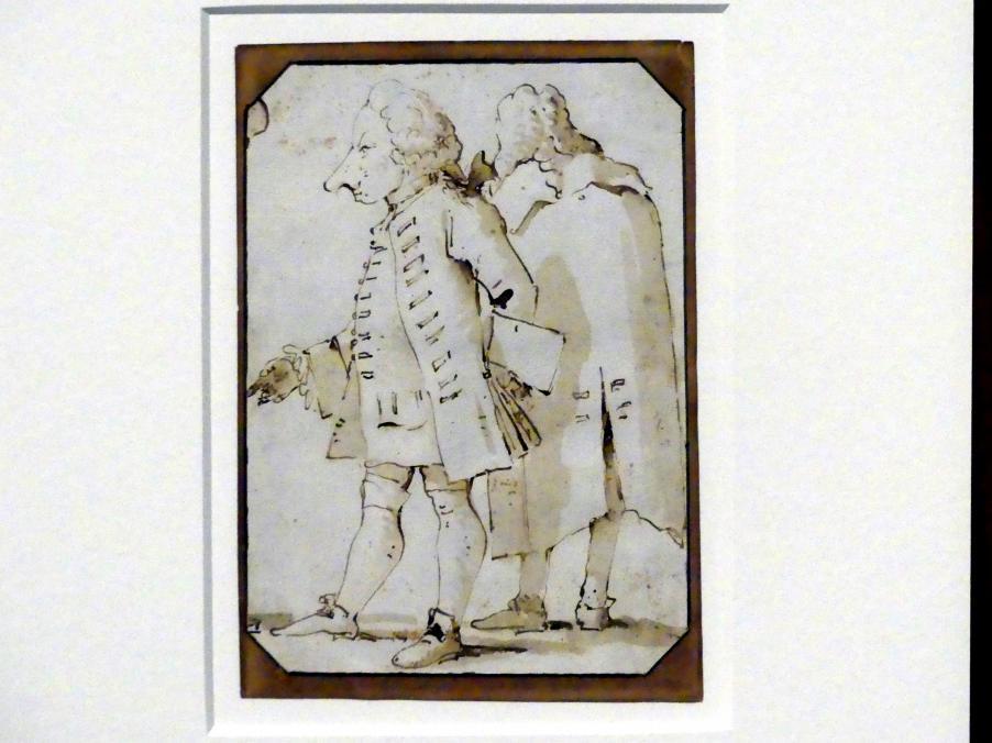 Giovanni Battista Tiepolo: Zwei Karikaturen, um 1760