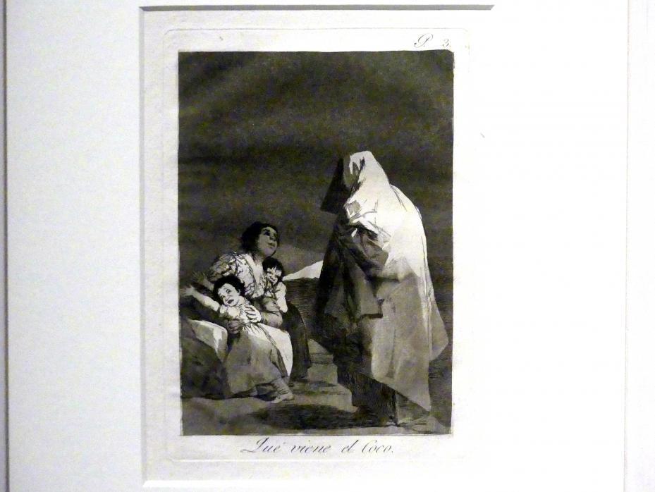 Francisco de Goya (Francisco José de Goya y Lucientes): Da kommt der schwarze Mann (Los Caprichos, 3), 1799