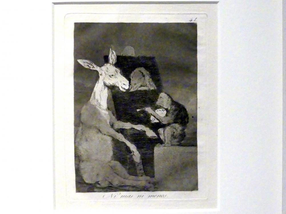 Francisco de Goya (Francisco José de Goya y Lucientes): Nicht mehr und nicht weniger (Los Caprichos, 41), 1799