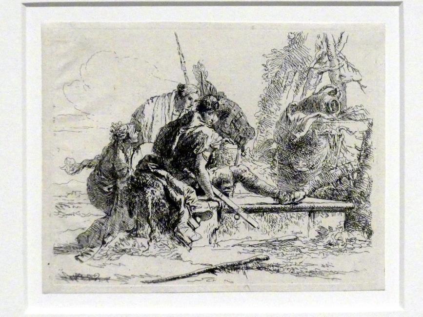 Giovanni Battista Tiepolo: Junger Edelmann auf einem Grab, um 1740 - 1742