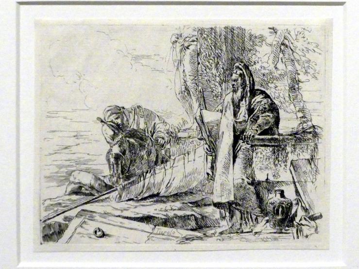 Giovanni Battista Tiepolo: Philosoph und zwei weitere Figuren, um 1740 - 1742
