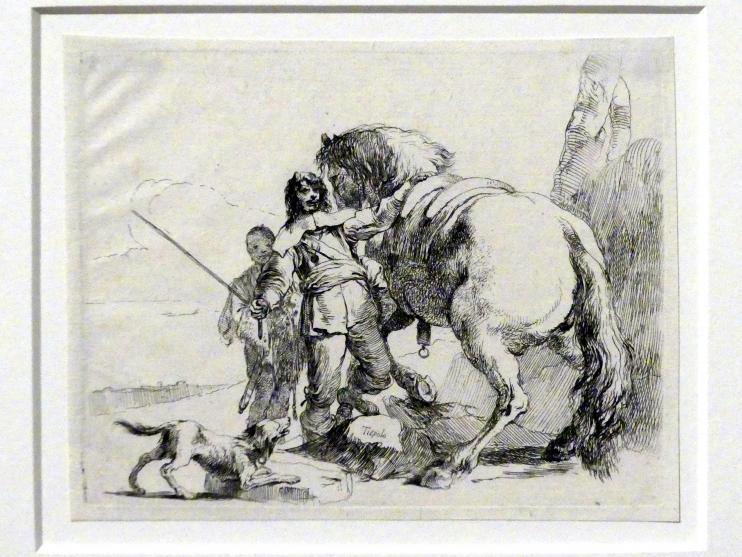 Giovanni Battista Tiepolo: Ein Reiter mit seinem Pferd, um 1740 - 1742