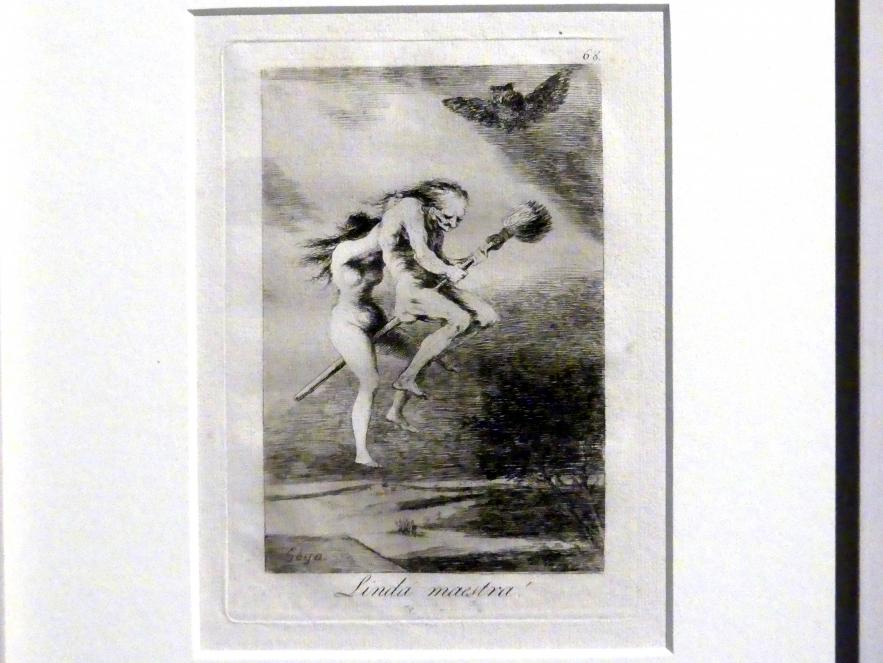 Francisco de Goya (Francisco José de Goya y Lucientes): Feine Lehrmeisterin! (Los Caprichos, 68), 1799