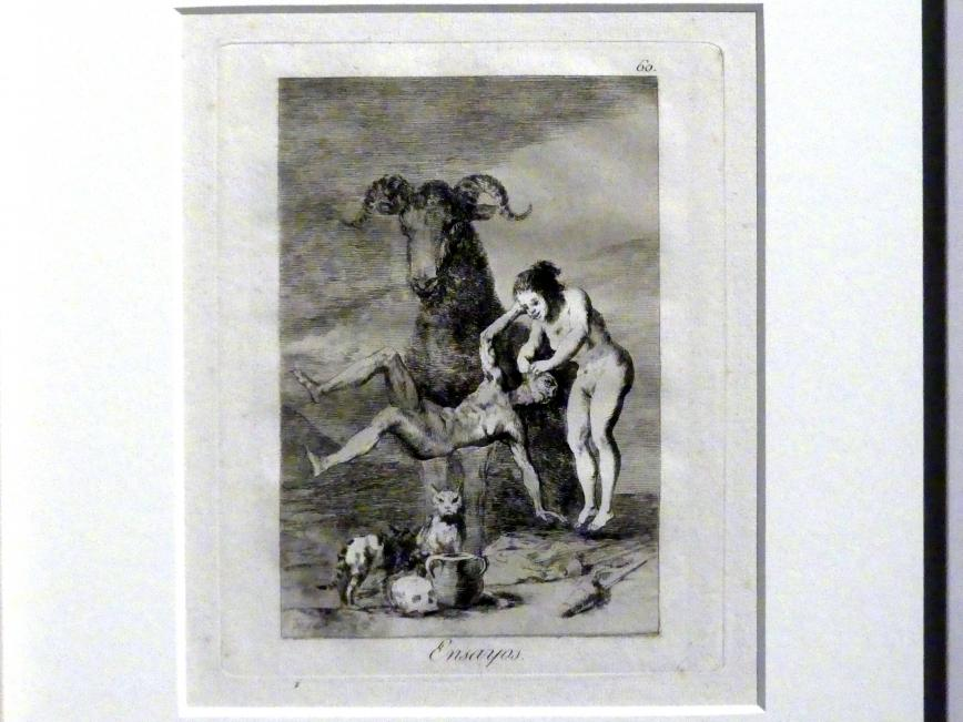Francisco de Goya (Francisco José de Goya y Lucientes): Versuche (Los Caprichos, 60), 1799