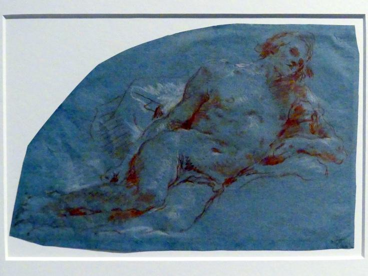 Giovanni Battista Tiepolo: Nach rechts lagernder männlicher Akt, 1752