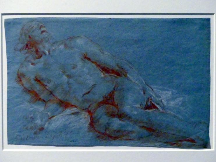 Giovanni Battista Tiepolo: Nach links lagernder männlicher Akt, 1752