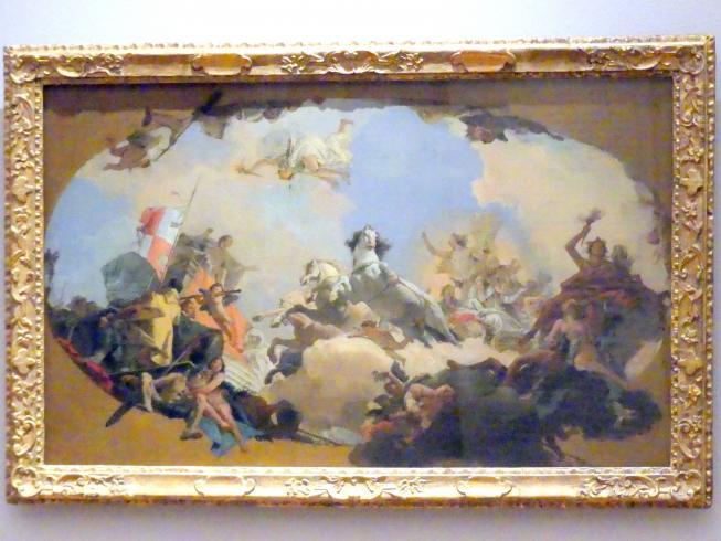 Giovanni Battista Tiepolo: Apoll führt dem Genius Imperii die Kaiserliche Braut zu, 1751