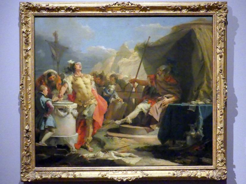 Giovanni Battista Tiepolo: Mucius Scaevola vor Porsenna, um 1751 - 1753
