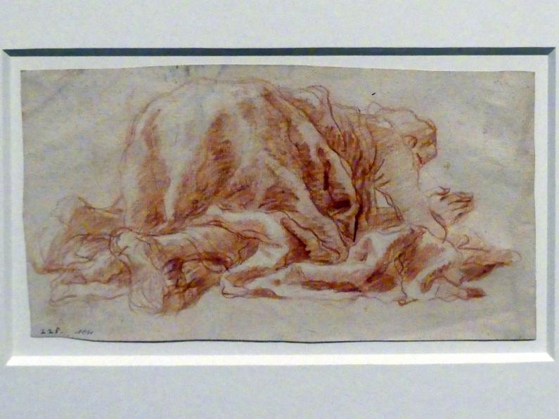 Giovanni Battista Tiepolo: Ein Mann, der sich anbetend niedergeworfen hat, um 1765 - 1770