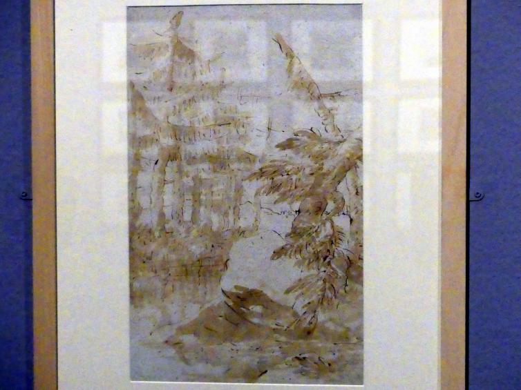 Giovanni Battista Tiepolo: Landschaft mit Bäumen an einem Bach, um 1735 - 1740