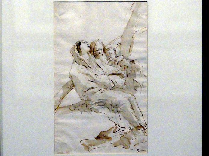 Giovanni Battista Tiepolo: Heilige Familie auf der Rast, um 1754 - 1762