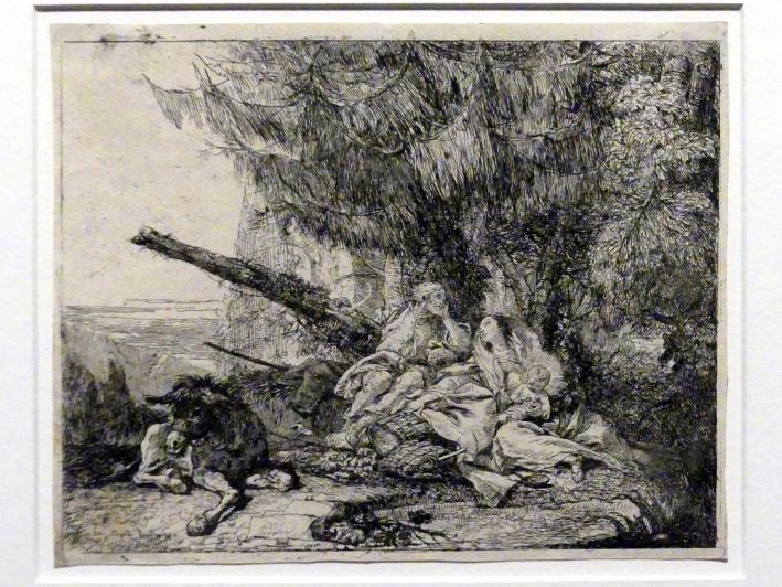 Giovanni Domenico Tiepolo: Die Rast an der Quelle, 1753