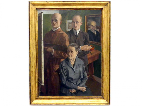 Wilhelm Schnarrenberger: Großes Familienbild, 1925