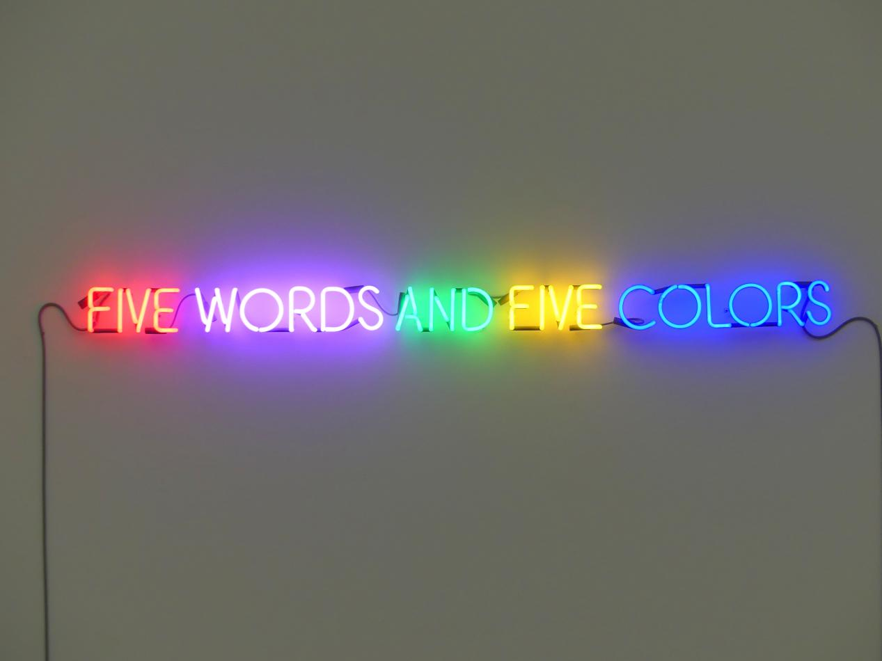 Joseph Kosuth: Five Words And Five Colors, 1965
