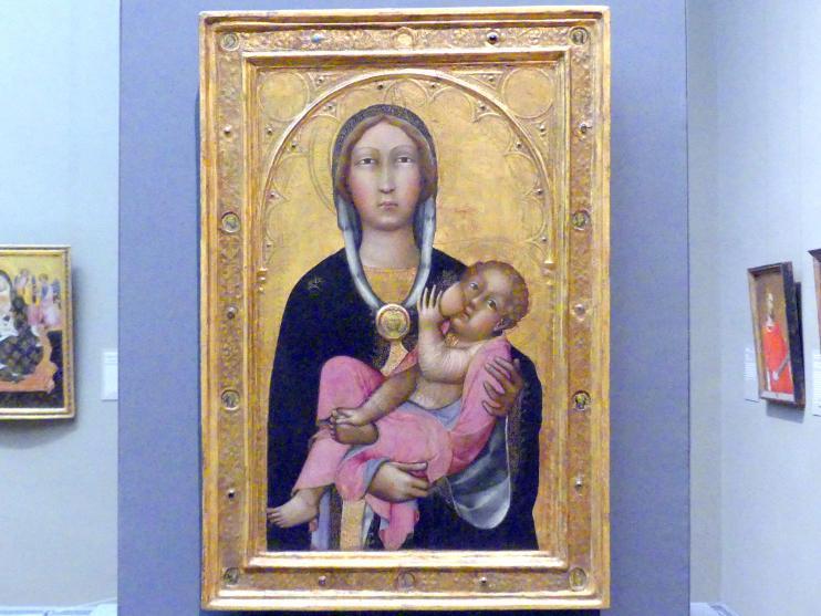 Paolo di Giovanni Fei: Maria mit dem Kind, um 1370 - 1380