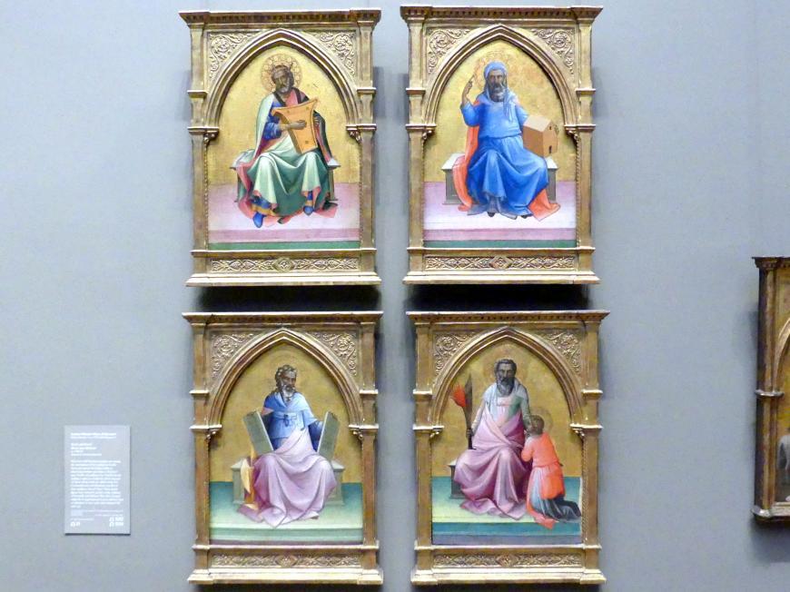 Lorenzo Monaco (Piero di Giovanni): Noah, David, Moses und Abraham, um 1408 - 1410