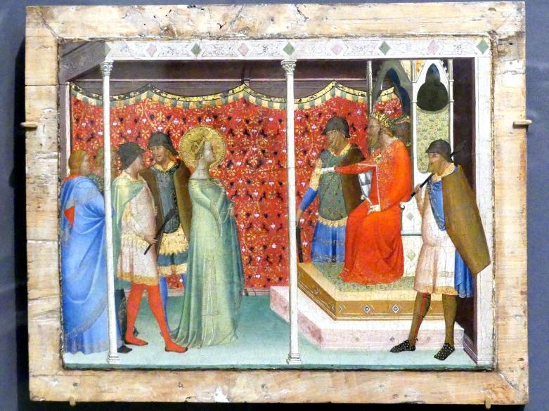 Bernardo Daddi: Heilige Reparata vor Kaiser Decius, um 1338 - 1340