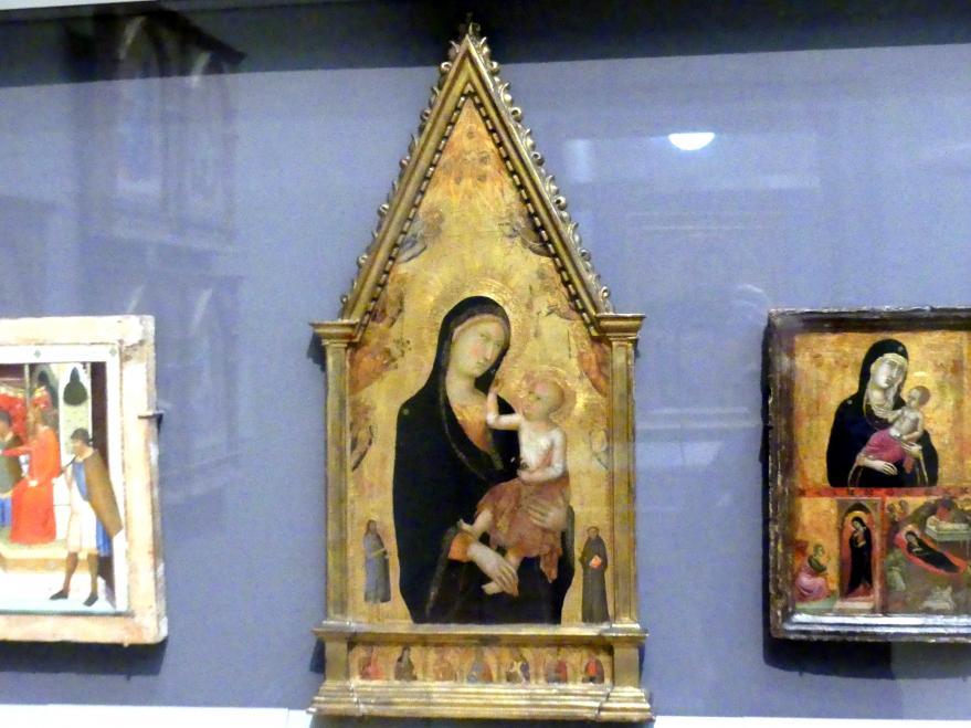 Lippo Memmi: Madonna mit Heiligen und Engeln, um 1350