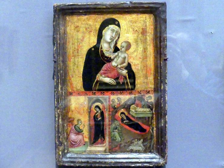 Madonna mit Verkündigungszene und Christi Geburt, um 1310 - 1315