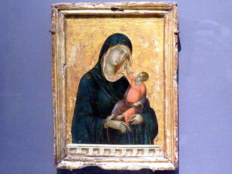Duccio di Buoninsegna: Maria mit Kind, um 1290 - 1300