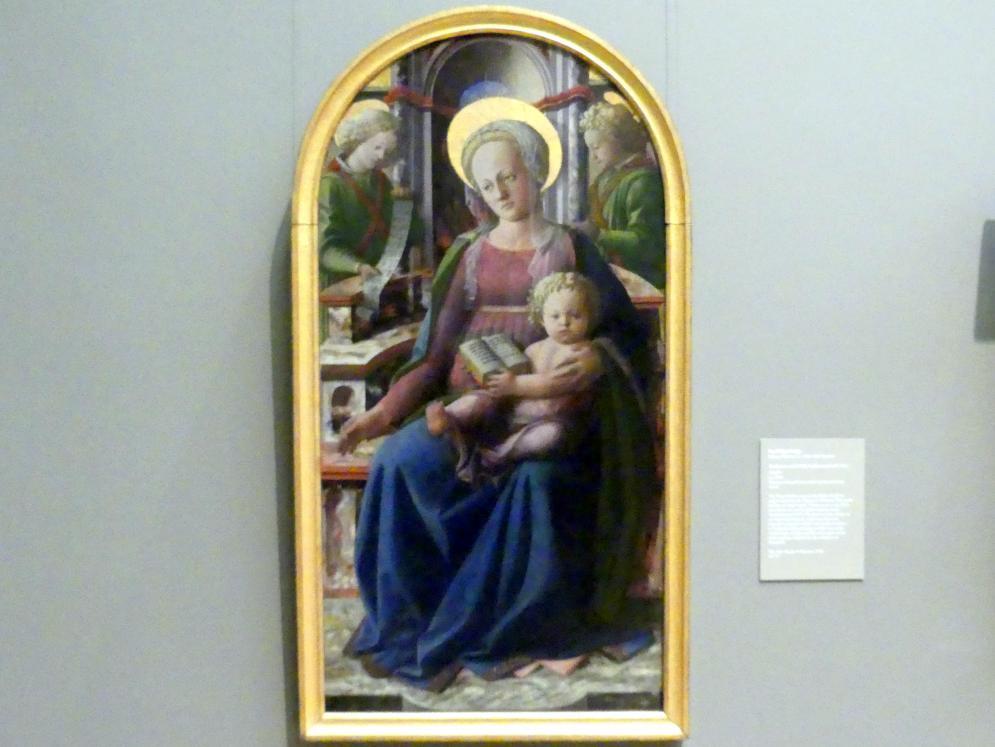Fra Filippo Lippi: Thronende Maria mit Kind und zwei Engeln, um 1440
