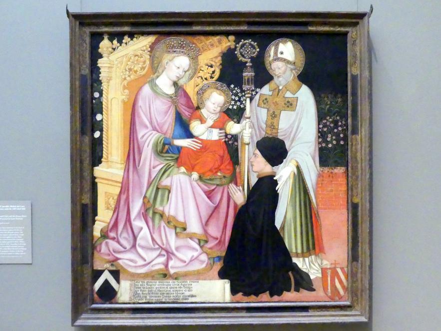 Maria mit Kind, dem hl. Nikolaus und einem Stifter, um 1420 - 1430