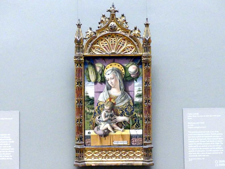 Carlo Crivelli: Maria mit Kind, um 1480