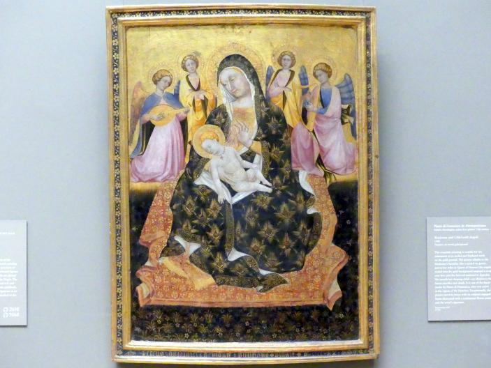 Pietro di Domenico aus Montepulciano: Maria mit Kind und Engeln, 1420