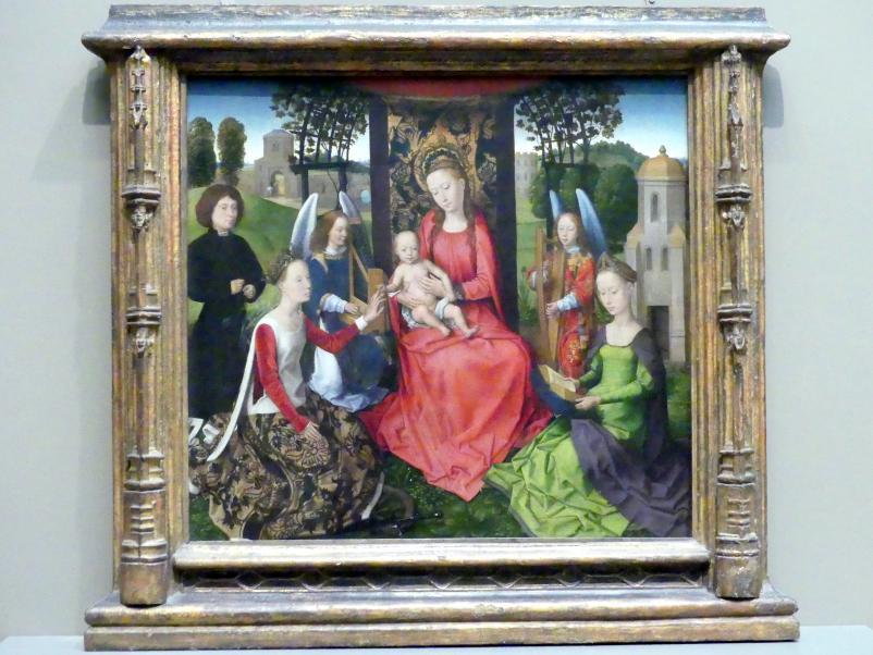 Hans Memling: Maria mit Kind und den heiligen Katharina von Alexandrien und Barbara, um 1480 - 1485