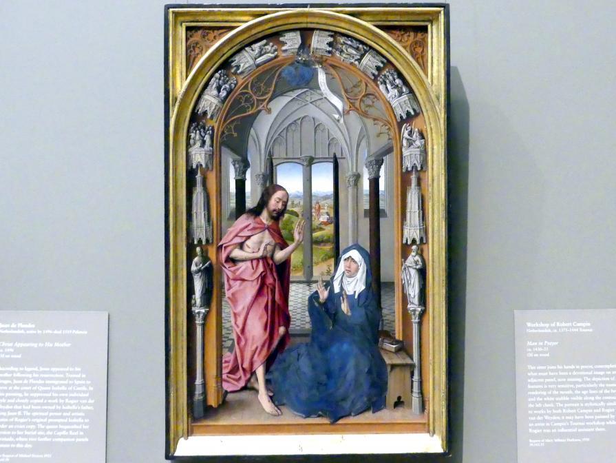 Juan de Flandes: Christus erscheint seiner Mutter, um 1496