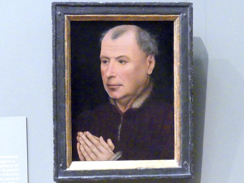 Robert Campin (Werkstatt): Mann im Gebet, um 1430 - 1435
