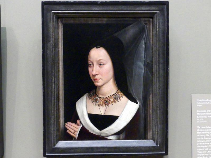 Hans Memling: Maria Portinari (Maria Maddalena Baroncelli, geb. 1456), um 1470