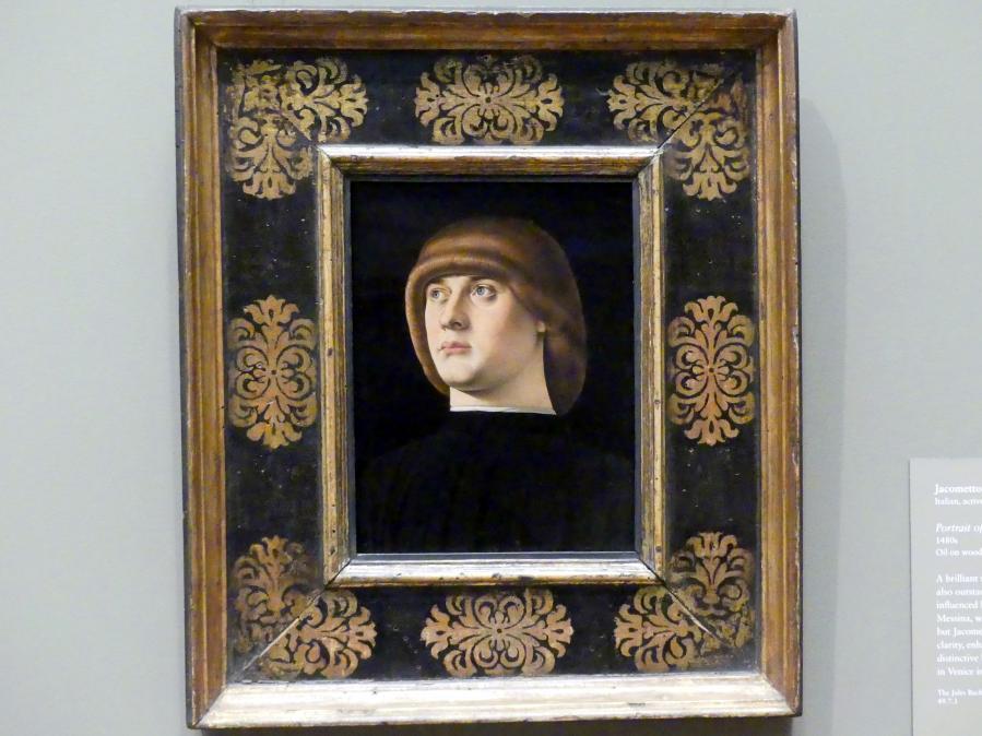 Jacometto Veneziano: Bildnis eines jungen Mannes, um 1480 - 1490