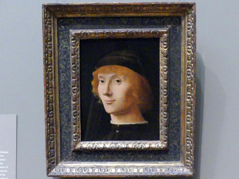 Antonello da Messina: Bildnis eines jungen Mannes, um 1470