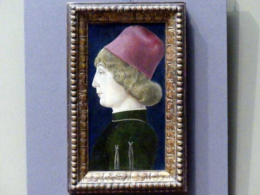 Cosmè (Cosimo) Tura: Bildnis eines jungen Mannes, um 1470 - 1480