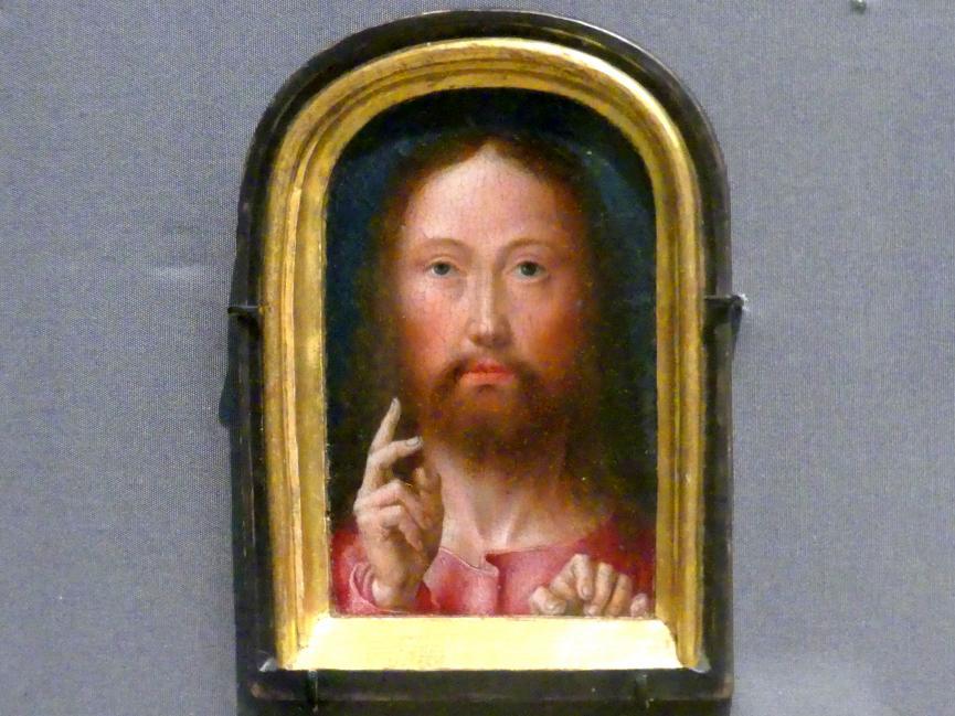 Gerard David: Segnender Christus, um 1500 - 1505