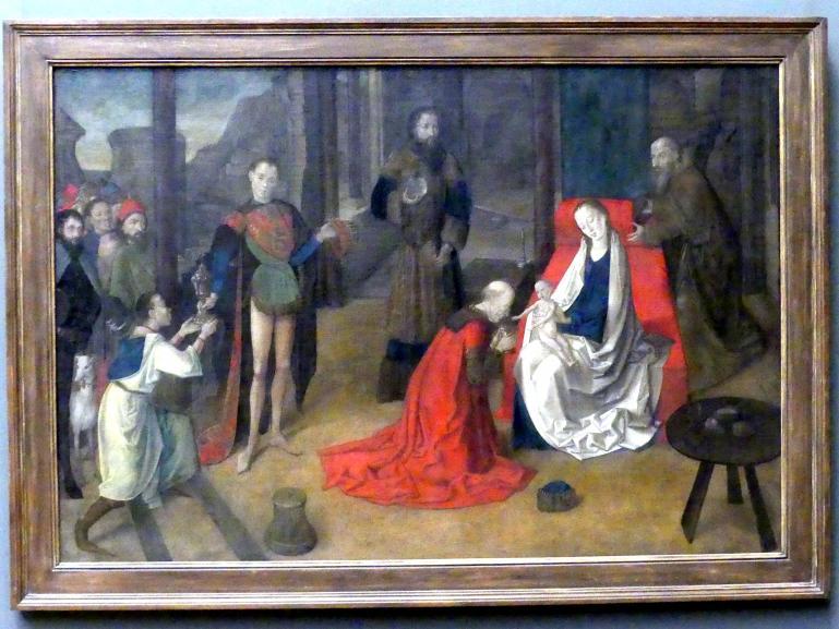 Joos van Wassenhove (Justus van Gent): Anbetung der Könige, um 1465