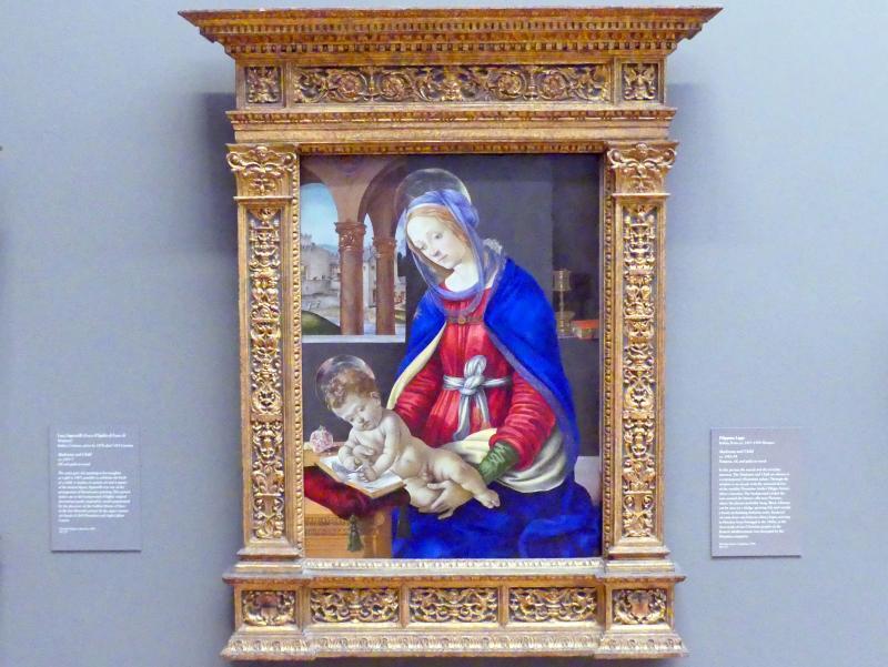 Filippino Lippi: Maria mit Kind, um 1483 - 1484