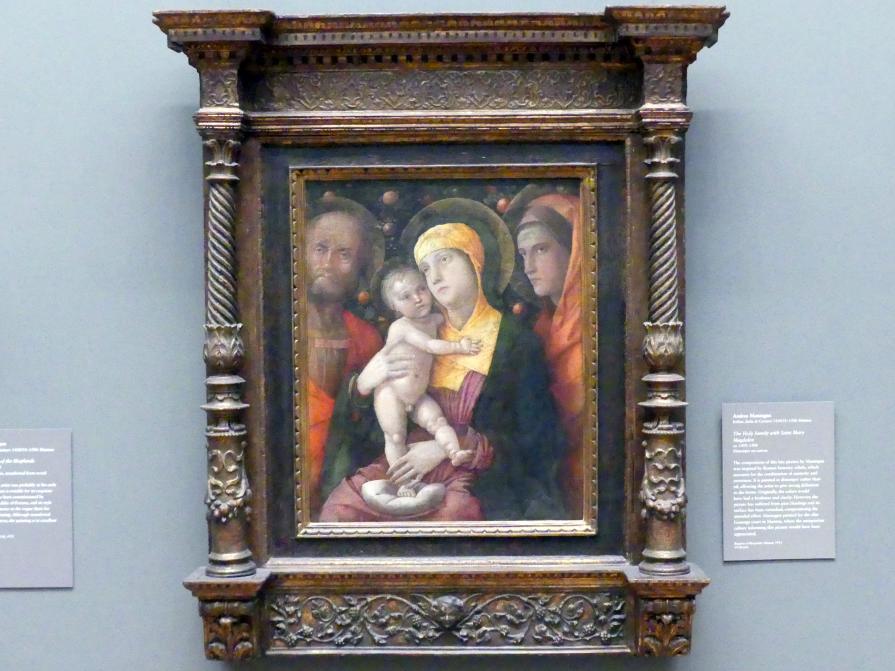 Andrea Mantegna: Heilige Familie mit der heiligen Maria Magdalena, um 1495 - 1500