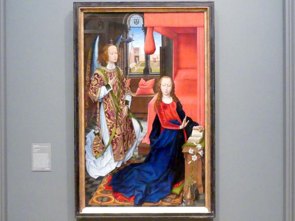 Hans Memling: Mariä Verkündigung, um 1465 - 1470
