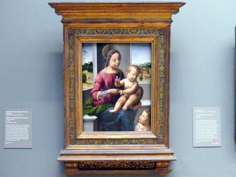 Fra Bartolomeo (Baccio della Porta): Maria mit Kind und dem Johannesknaben, um 1497