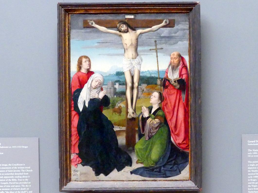 Gerard David: Kreuzigung mit dem hl. Hieronymus, um 1495