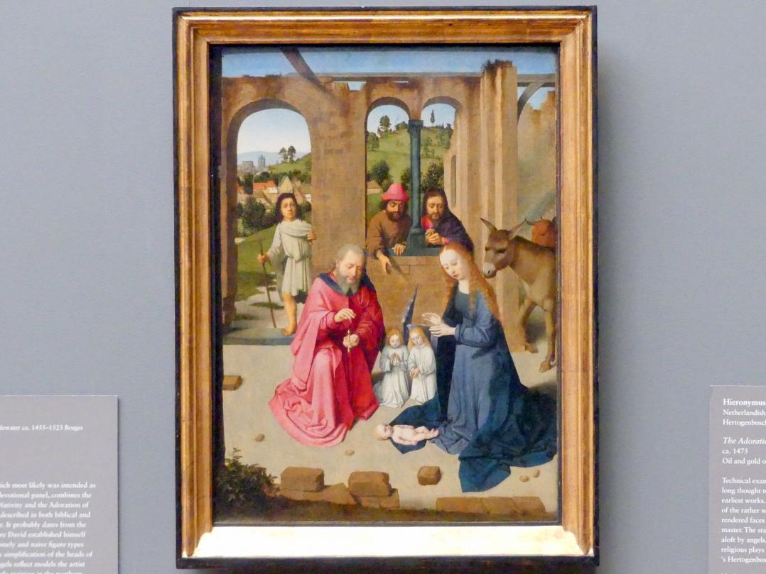 Gerard David: Anbetung des Christkindes, um 1480 - 1485