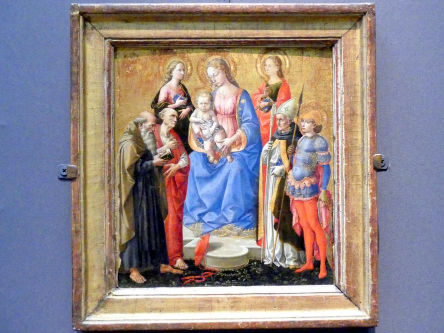 Francesco Pesellino: Maria mit Kind und sechs Heiligen, um 1445 - 1450