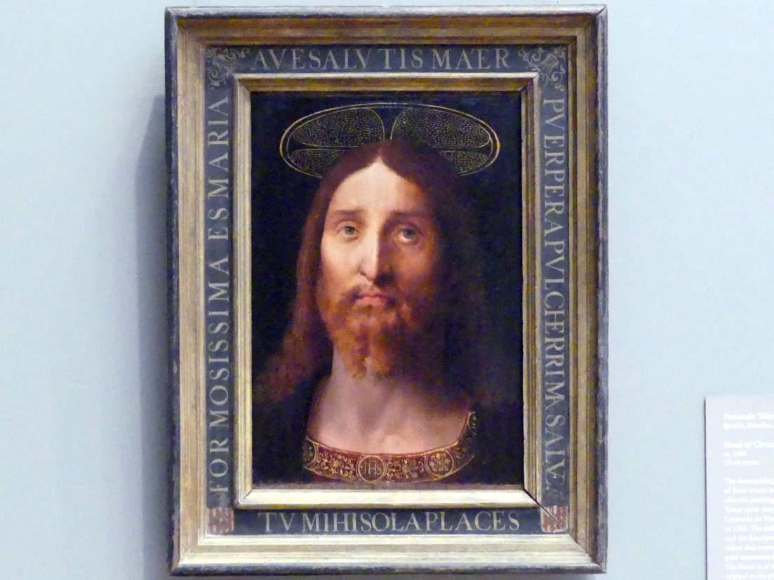 Fernando Yáñez de la Almedina: Christuskopf, um 1506