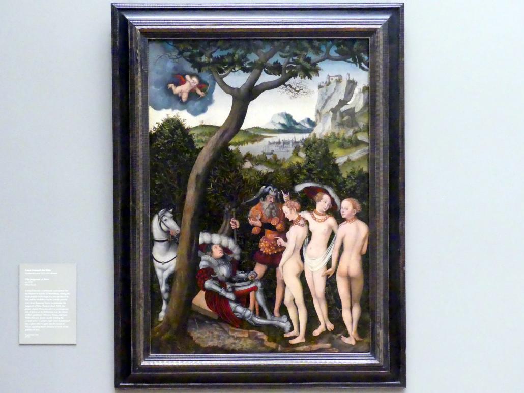 Lucas Cranach der Ältere: Das Urteil des Paris, um 1528