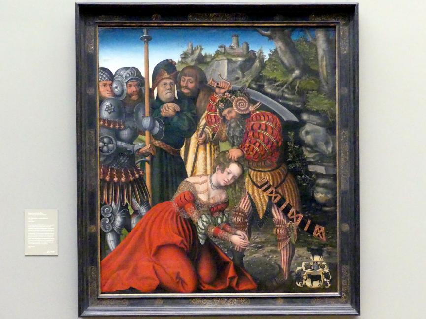 Lucas Cranach der Ältere: Das Martyrium der heiligen Barbara, um 1510